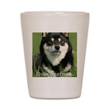 shiba_greeting Shot Glass