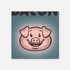 "bacon-vegan-STKR Square Sticker 3"" x 3"""