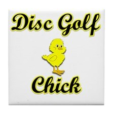 Disc Golf Chick Tile Coaster