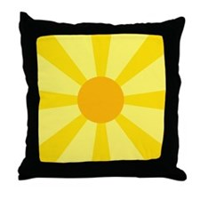 Yellow Rays Throw Pillow