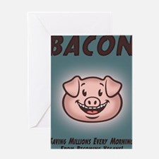 bacon-vegan-CRD Greeting Card