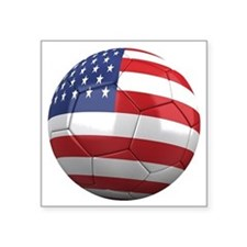 "usa round Square Sticker 3"" x 3"""
