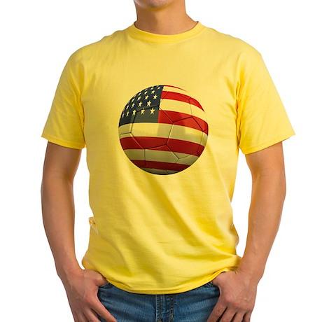 usa round Yellow T-Shirt