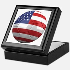 usa round Keepsake Box