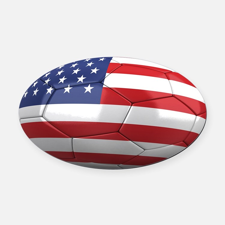 usa oval Oval Car Magnet