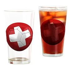 switzerland round Drinking Glass