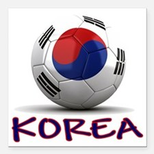 "south korea Square Car Magnet 3"" x 3"""