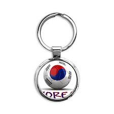 south korea Round Keychain