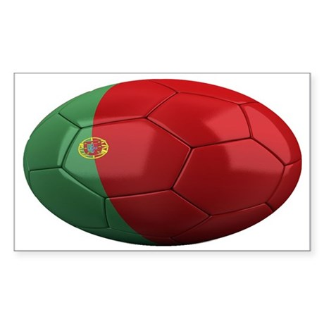 portugal oval Sticker (Rectangle)