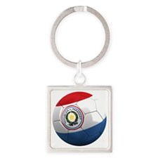 paraguay round Square Keychain