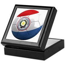 paraguay round Keepsake Box