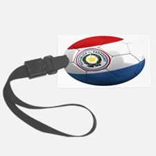 paraguay oval Luggage Tag