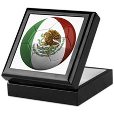 mexico round Keepsake Box