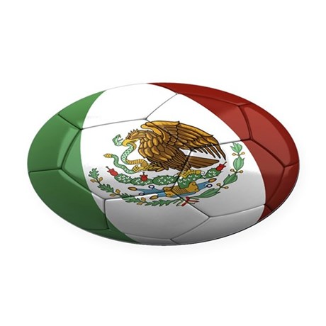 mexico oval Oval Car Magnet