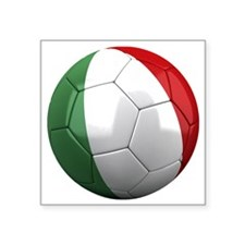 "italy round Square Sticker 3"" x 3"""