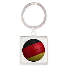 germany round Square Keychain