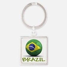 brazil Square Keychain