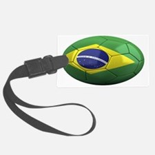 brazil oval Luggage Tag