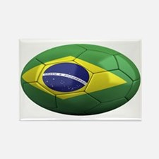 brazil oval Rectangle Magnet