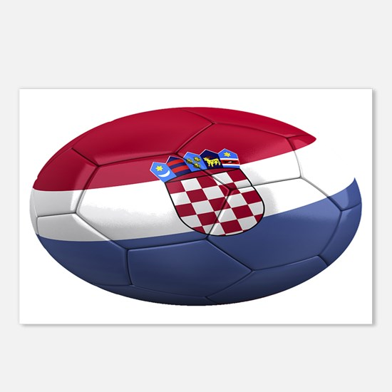 croatia oval Postcards (Package of 8)