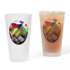 cup fever 2 round Drinking Glass