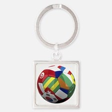 cup fever 2 round Square Keychain