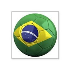 "brazil round Square Sticker 3"" x 3"""