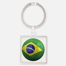 brazil round Square Keychain