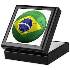 brazil round Keepsake Box