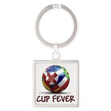 cup fever 1 Square Keychain