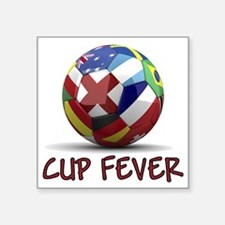 "cup fever 1 Square Sticker 3"" x 3"""