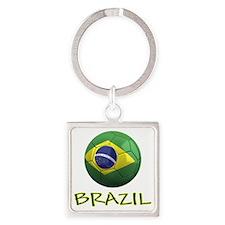 brazil ns Square Keychain