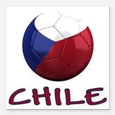 "chile ns Square Car Magnet 3"" x 3"""