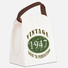 VinRtrGrn1947 Canvas Lunch Bag