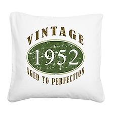 VinRtrGrn1952 Square Canvas Pillow