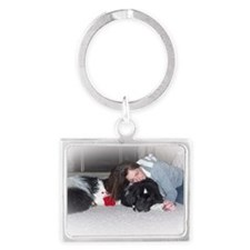 Joey and Lisa2 Landscape Keychain