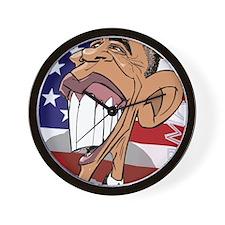 Barack Obama Caricature Cartoon Poster  Wall Clock