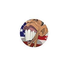 Barack Obama Caricature Cartoon Poster Mini Button