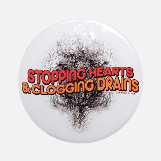 Stopping Hearts Round Ornament