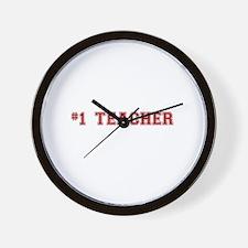 #1 Teacher Wall Clock