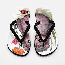 Purple Portly Owlet Flip Flops