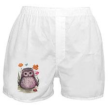 Purple Portly Owlet Boxer Shorts