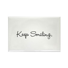 Keep Smiling Script Black Magnets