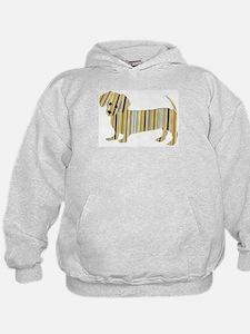 Striped Dachshund Puppy Hoodie