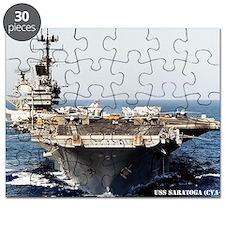 saratoga cva large framed print Puzzle