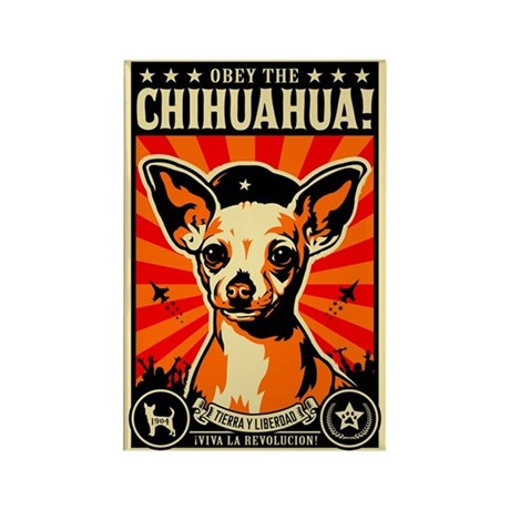Obey the Chihuahua! Propaganda Magnet