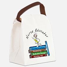 Nurse Educator BOOK STACK Canvas Lunch Bag