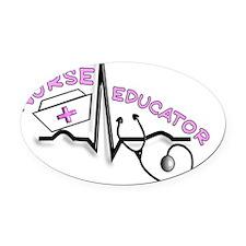 Nurse Educator QRS Pink Oval Car Magnet