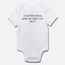 Does this diaper make my butt Infant Bodysuit