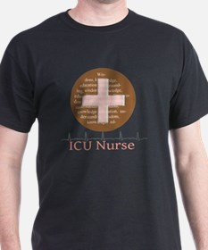 ICU Nurse Brown Circle T-Shirt